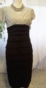 Collection Dressbarn silver black dress layers sz6